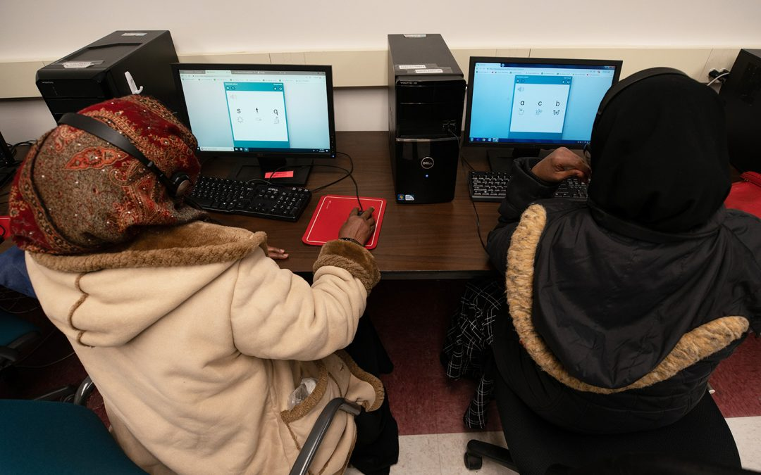 Halima Takes Learning Online